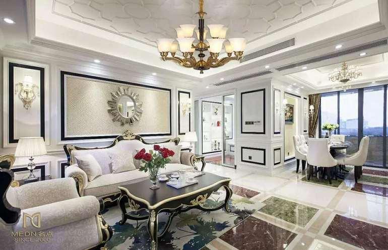 点名现代室内白色酒店大厅吊灯