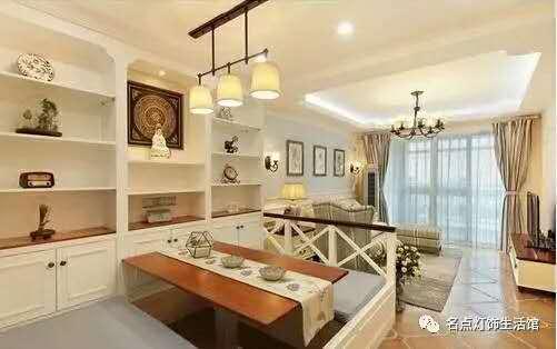 点明现代室内餐厅茶楼卧室玻璃罩吊灯