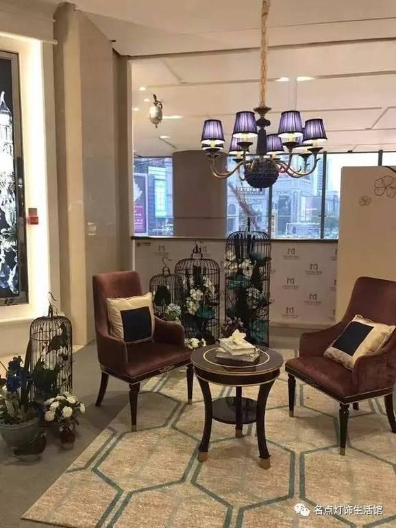 点名现代室内卧室客厅紫色吊灯