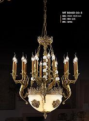 保罗帝莎欧式典雅室内铜灯8046D-16+3 φ660 H820