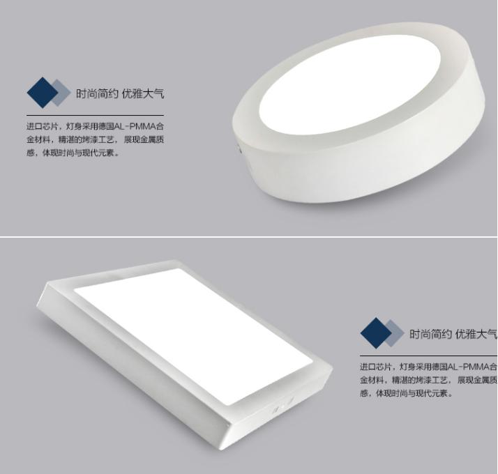 LED明装面板灯