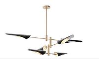 雅蔻北欧金属工业风斜口牛角创意别墅展厅后现代飞机吊灯