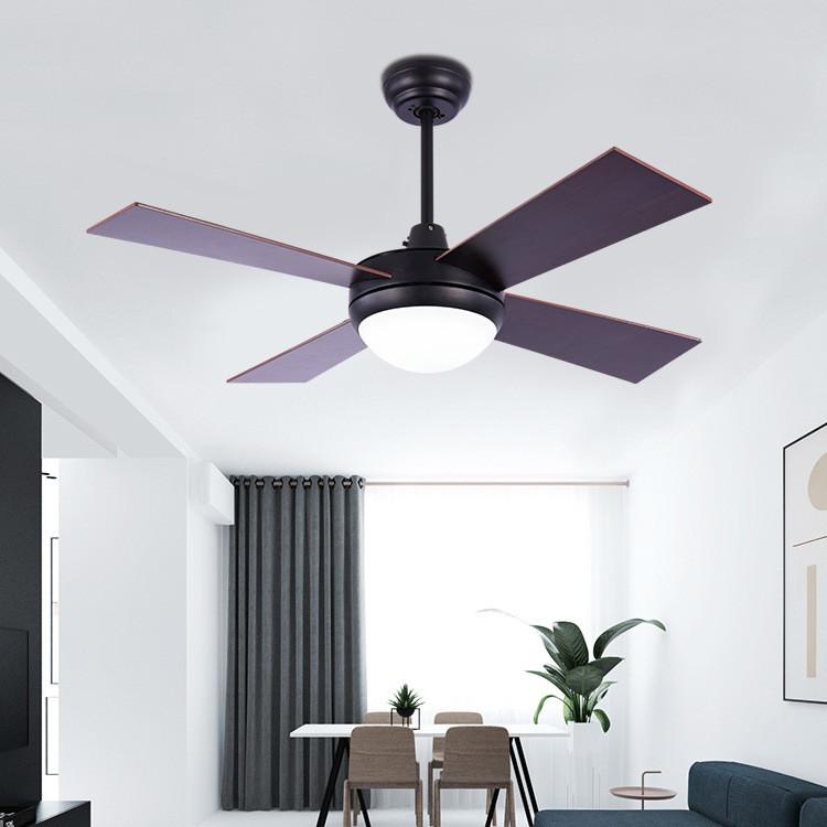 北欧吊扇灯客厅36寸电风扇灯 餐厅现代简约带风扇智能吊扇灯