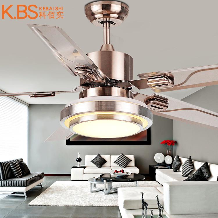 餐厅吊扇灯客厅风扇灯简约现代电扇灯扇带LED的家用风扇吊灯