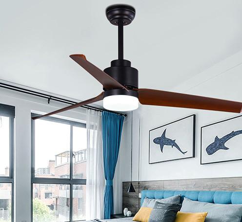 北欧风格吊扇灯 客厅餐厅卧室现代简约静音风扇灯LED电风扇吊灯