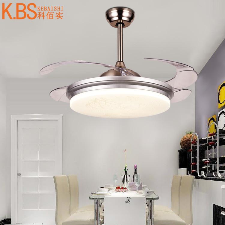 超薄隐形风扇灯 客厅卧室餐厅吊扇灯 带遥控led隐形电风扇吊灯