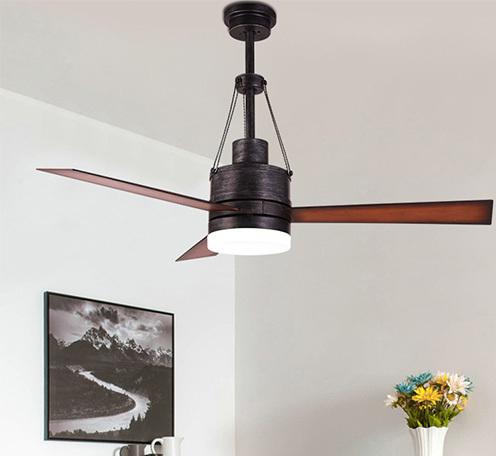 工业风吊扇灯餐厅酒店工程AC马达电扇