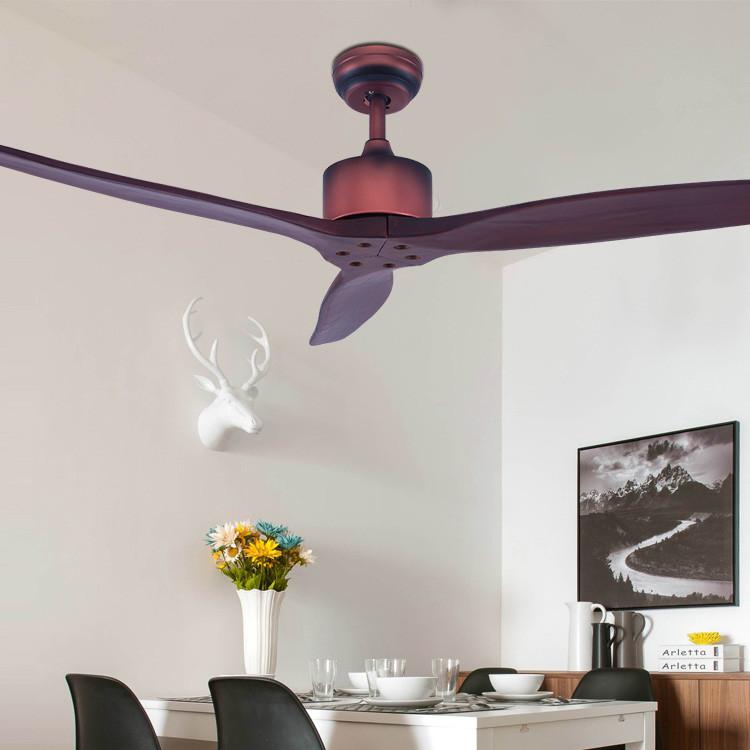 科佰实5209工厂实木吊扇灯装饰静音风扇灯美式无灯遥控风扇灯吊扇