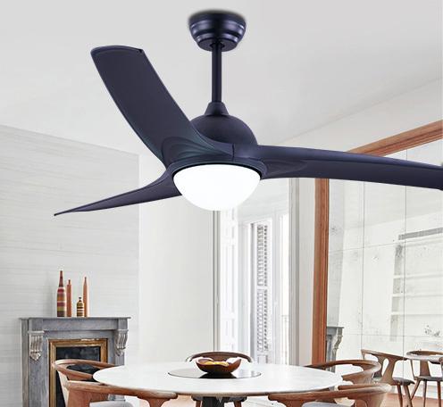 简约北欧风扇灯 欧美吊扇吊灯客厅餐厅AC马达吊扇灯