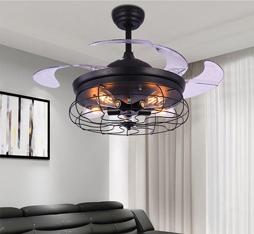 北欧灯具创意个性led餐厅客厅灯现代工业风扇灯服装店网咖吊灯