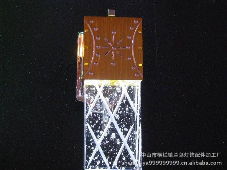 水晶柱壁灯