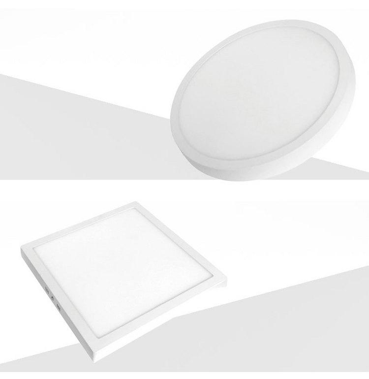 LED明装筒灯天花超薄面板灯圆形方形过道厨卫吸顶灯