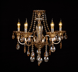 铁管水晶蜡烛灯