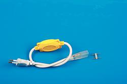 防水灯带插头8A黄色带插针