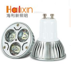 海利新 GU10 宽电压 3W Led 压铸外壳大功率射灯灯杯