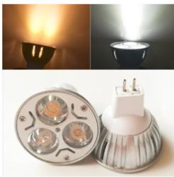 外贸品质MR16 12V 插脚 3W Led灯杯 压铸外壳大功率Led射灯灯杯
