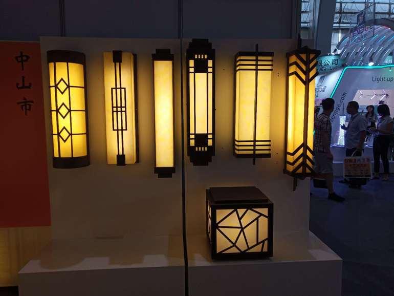 简约中式黄光户外壁灯