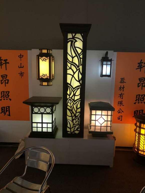 中式简约户外黄光白光庭院壁灯落地灯箱