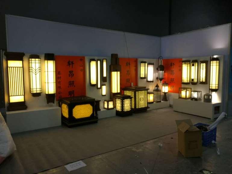 中式户外庭院落地灯壁灯