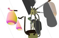 新中式吊灯材质展示