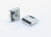 MICRO USB 5P 180度 B型立式插座