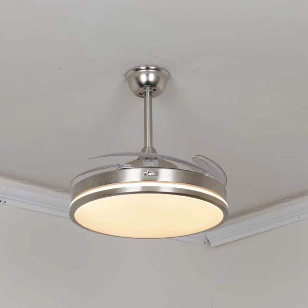 现代简约餐厅客厅静音一体遥控吊扇灯风扇灯