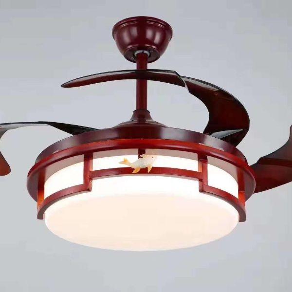 复古中式客厅餐厅室内装饰灯静音风扇灯