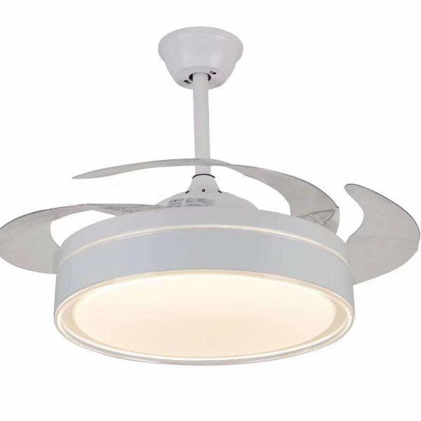 现代简约风卧室客厅餐厅家用吊扇灯电风扇灯