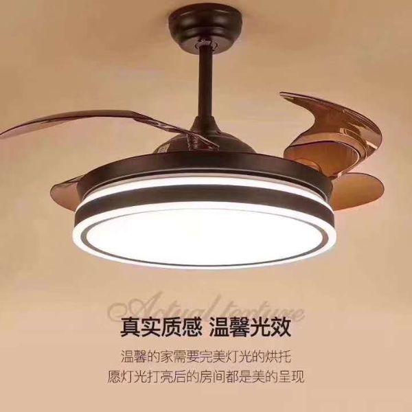 温馨家用欧式简约卧室客厅电风扇吊灯