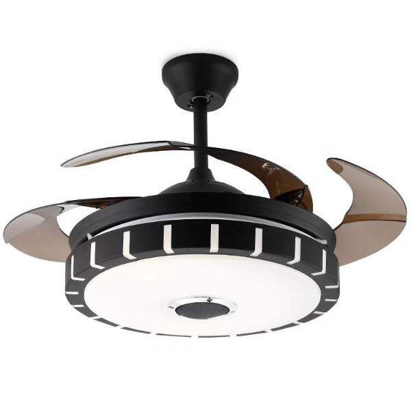 现代创意客厅餐厅室内静音遥控风扇吊灯