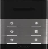 双路定阻灯具开关 黑色双声道立体声音控器 喇叭背景音乐灯具调节面板