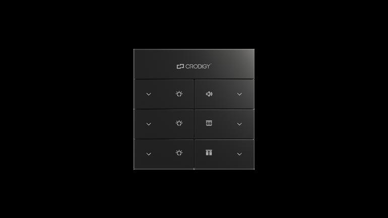 黑色灯具开关音量开关音控面板 灯具调节开关 定压灯具开关