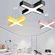 【办公照明】彩色马卡龙办公室吊灯led创意十字叉形幼儿园培训班瑜伽教室灯具