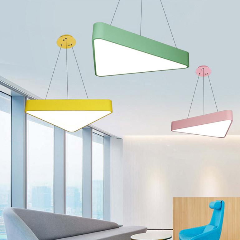 【办公照明】简约现代办公室吊灯led创意三角形吸顶灯工作室会议室灯具