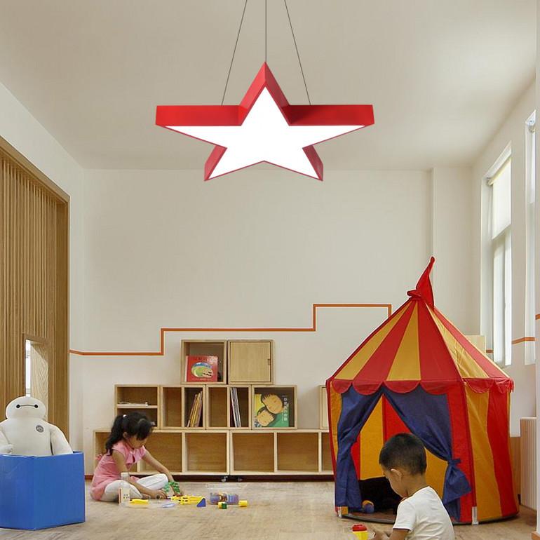 【办公照明】幼儿园灯具创意五角星星吊灯儿童舞蹈美术教室培训教育机构吸顶灯