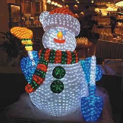 LED滴胶3D圣诞雪人