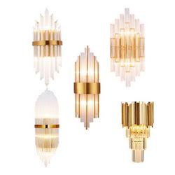 后现代水晶壁灯简约创意轻奢客厅墙壁灯北欧过道走廊卧室床头壁灯