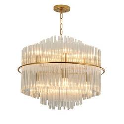后现代客厅餐厅水晶灯别墅创意设计师圆水晶装饰灯厂家