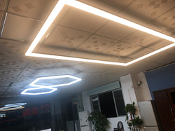 勤创办公照明白色支架灯
