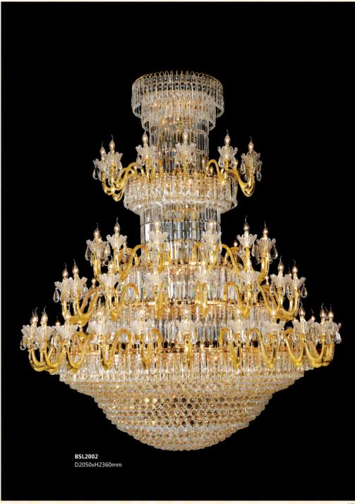 保时利黄金水晶吊灯