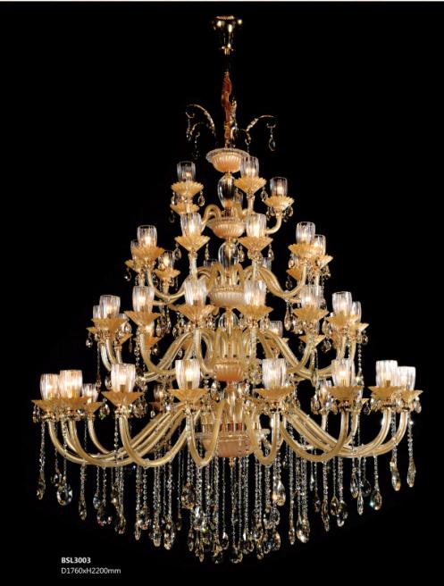 保时利欧式水晶吊灯大气客厅灯