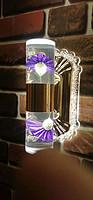 航鹰紫罗兰玻璃壁灯