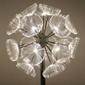 LED光纤蒲公英灯 不锈钢户外防水防锈景观灯草坪造型灯