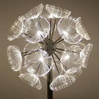 LED光纖蒲公英燈 不銹鋼戶外防水防銹景觀燈草坪造型燈