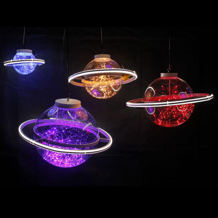 LED满天星圆球灯婚庆道具星空球太空星球商场舞台婚礼吊灯