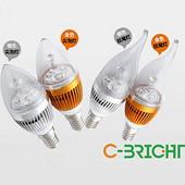 铝合金拉尾尖泡大功率3W5WLED灯泡