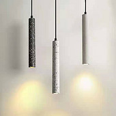 白色长条吊线射灯吊灯