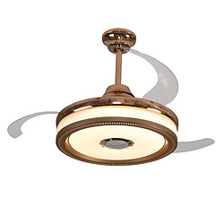 大明隐形客厅餐厅卧室家用简约现代LED风扇灯