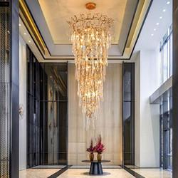 大厅奢华暖光水晶吊灯