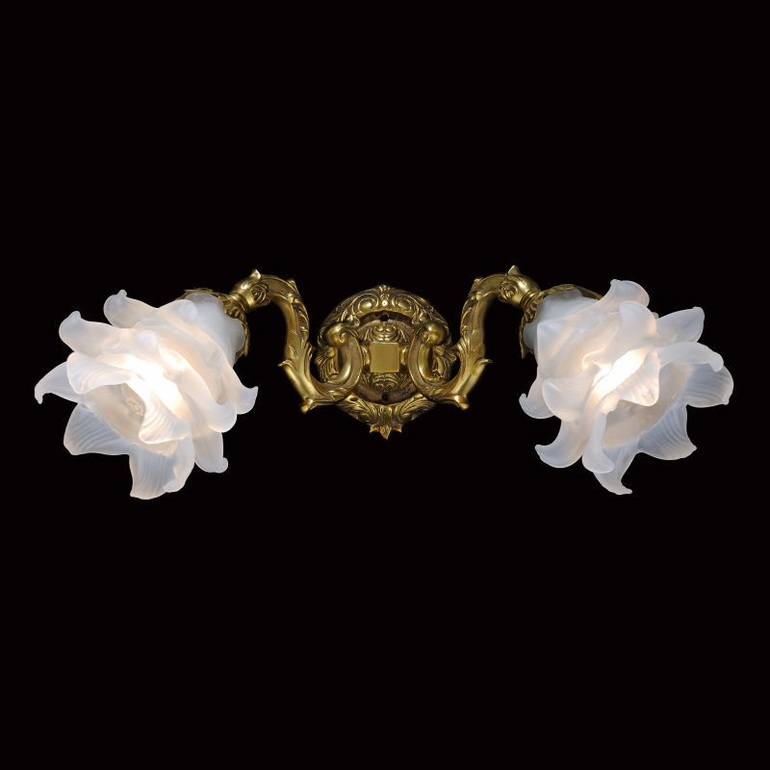 花朵金色欧式壁灯